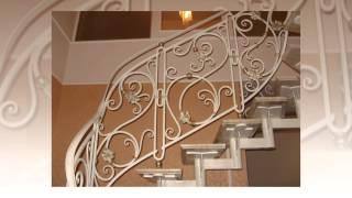 видео кованые перила на лестницу