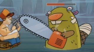 ХАРДКОРНЫЙ БОСС БОБЕР Swamp Attack мультик игра для детей