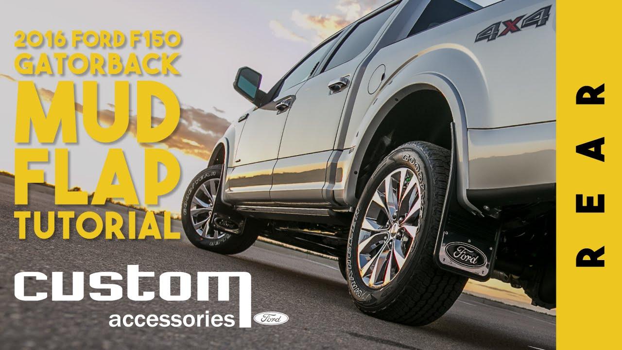 Ford custom accessories gatorback mudflap install tutorial f150 rear youtube
