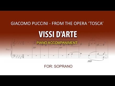 Vissi d'arte / Karaoke piano / Giacomo Puccini / SOPRANO
