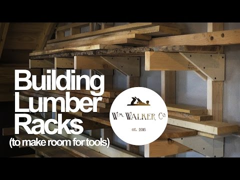 DIY Lumber Racks