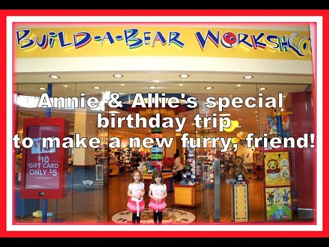 Birthday Trip To Build-A-Bear Workshop - Annie & Allie Turn 6!