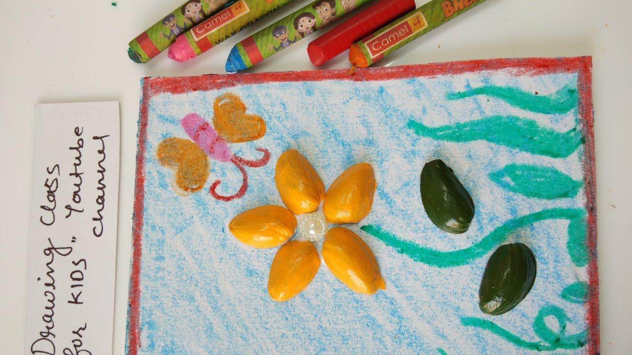 Simple Greeting Card Making Using Pista Pistachio Shells Pista