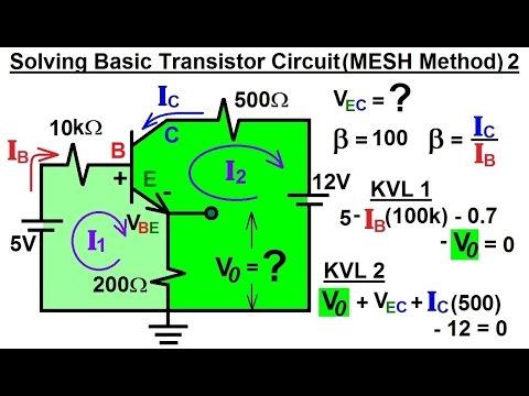 electrical engineering ch 3 circuit analysis (35 of 37) solvingelectrical engineering ch 3 circuit analysis (35 of 37) solving basic transistor circuit (mesh) 2*