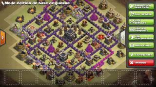 Best base de guerre hdv9 clash of clans