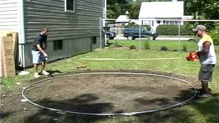 Do-it-yourself Round Above Ground Swimming Pool Installation - 1 Of 2
