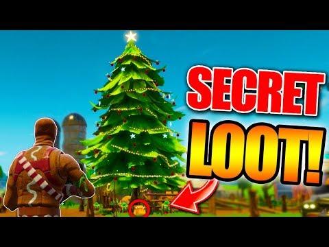 NEW SECRET CHRISTMAS TREE CHESTS! - Fortnite Battle Royale CHRISTMAS UPDATE GAMEPLAY!