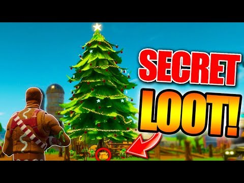Fortnite Christmas Tree.New Secret Christmas Tree Chests Fortnite Battle Royale Christmas Update Gameplay