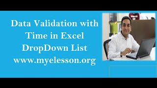 MS Excel Data Validation with Time Feature in Hindi