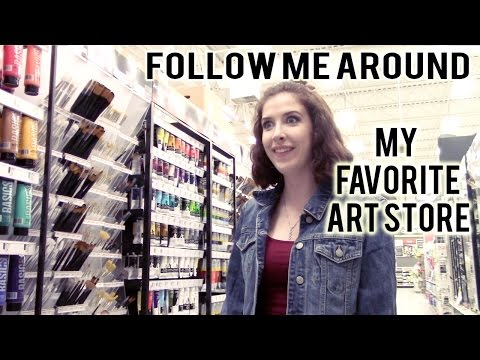 FOLLOW ME AROUND! Michaels Art Store 🎨