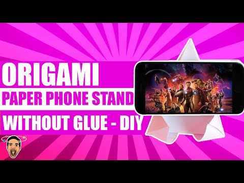 How to make paper phone stand without glue. DIY paper phone stand origami
