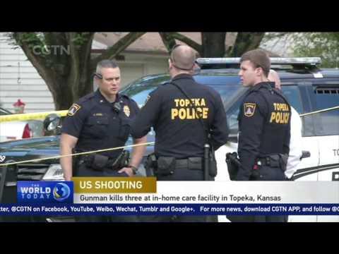Gunman kills 3 at in-home care facility in Topeka, Kansas