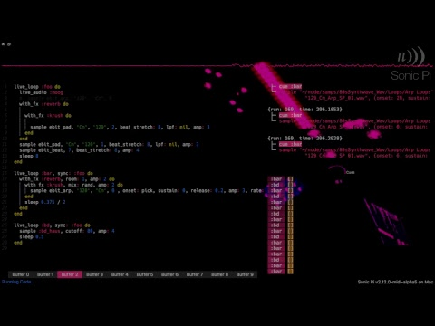 Sam Aaron Live Coding Practice