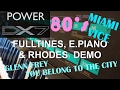 Download Yamaha DX7 - 80's Hits, Miami Vice, You Belong To The City, E.Piano, FullTines & Rhodes Demo MP3 song and Music Video