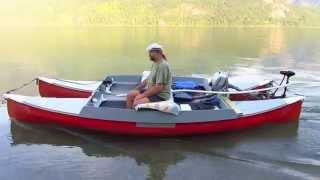 Electric canoe-catamaran