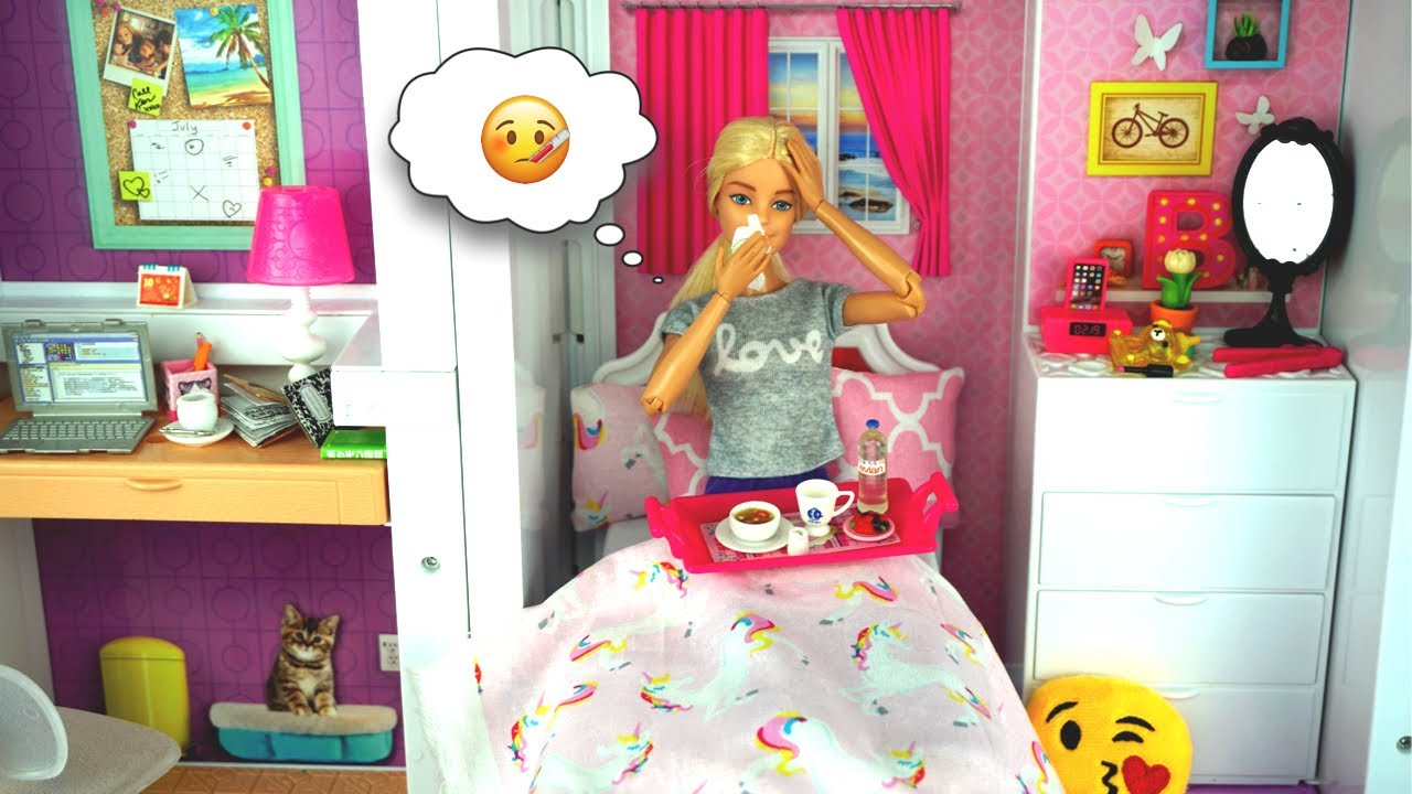 Barbie Sick Day Morning Routine In Dream House Fun Toys