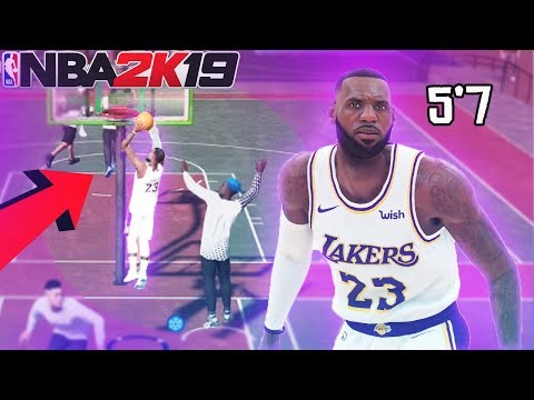 I MADE A 5'7 LEBRON JAMES AND THIS HAPPENED.. nba2k19 mypark pure slasher build
