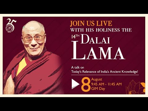 Straight from GIM- His Holiness the 14th Dalai Lama Live