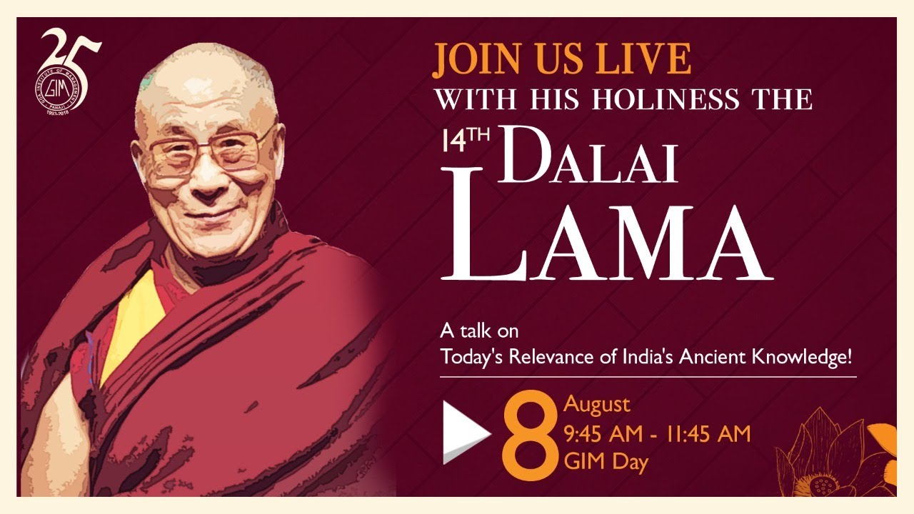 Straight from GIM- His Holiness the 14th Dalai Lama Live - YouTube