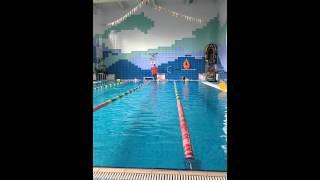 Тёмка в бассейне. Открытый урок.(1)