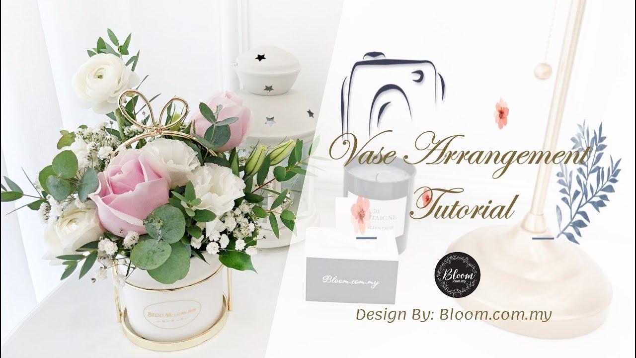 Modern Ceramic Vase With Gold Frame White Porcelain Flower Arrangement Tutorial Vase Arrangement Youtube