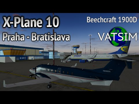 Prague - Bratislava in a Beechcraft 1900D (X-Plane 10 on VATSIM)