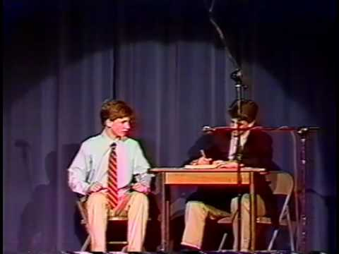 Seth Meyers and brother skit from 1991