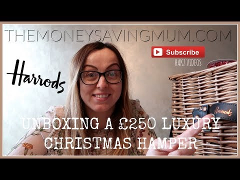 UNBOXING THE £250 HARRODS DELUXE CHRISTMAS HAMPER!