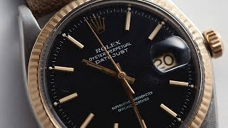 Our FIRST Two-Tone Matte Black Rolex Datejust & More :: IN THE METAL