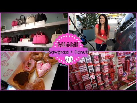 Donuts + Loja de 1 dólar + Sawgrass Outlet ♥ Vlog Fort Lauderdale