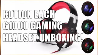 KotionEach G1000 Gaming Headset Unboxing