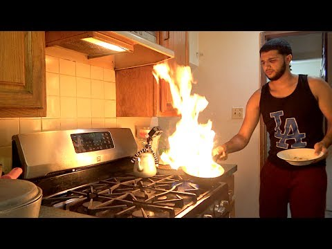 MADE A FIRE IN MY KITCHEN!! (CRZY VLG)