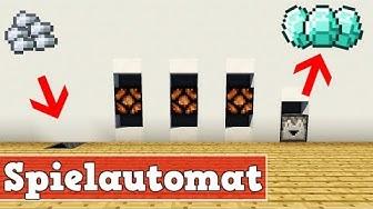 Wie baut man einen Spielautomaten in Minecraft | Minecraft Spielautomaten Bauen Deutsch