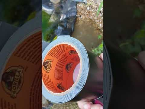 Gorilla tape waterproof patch and seal. Does it work??