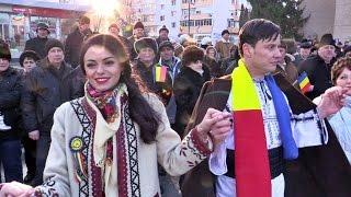 Hora Unirii  - Piața Civică  Vaslui  24 ianuarie 2017