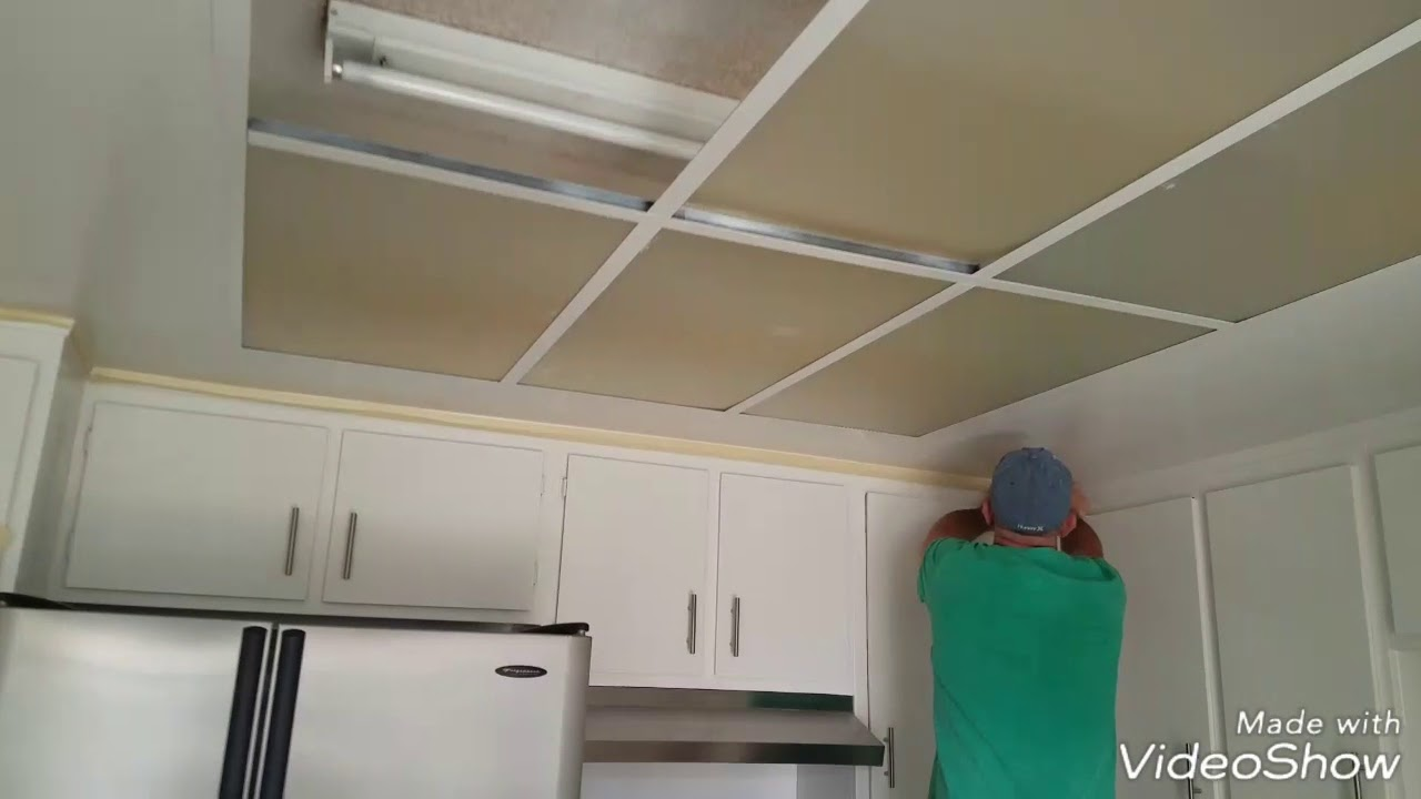 Upgrade Old Kitchen Lighting To Recessed Led Lights Youtube