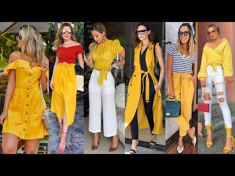 outfits-para-toda-ocasiÓn-y-estilo-usando-en-color-amarillo-2020!!!-moda-y-tendencias-2020!!!