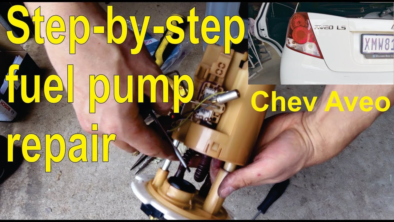 how to fix a fuel petrol pump in a chev aveo detailed [ 1280 x 720 Pixel ]