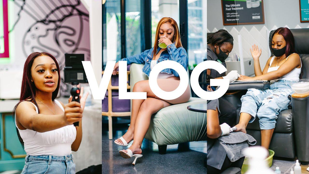 Creating Content Vlog | NAILS + HAIR + DATE ft Megalook | SOUTH AFRICAN YOUTUBER | OG Parley