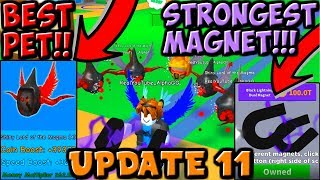 UPDATE 11!! *NEW* BEST MAGNET AND PETS IN MAGNET SIMULATOR!! (Roblox)