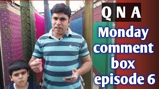 Q N A about laundry & drycleaning, Monday comment box ,episode 6,(hindi)