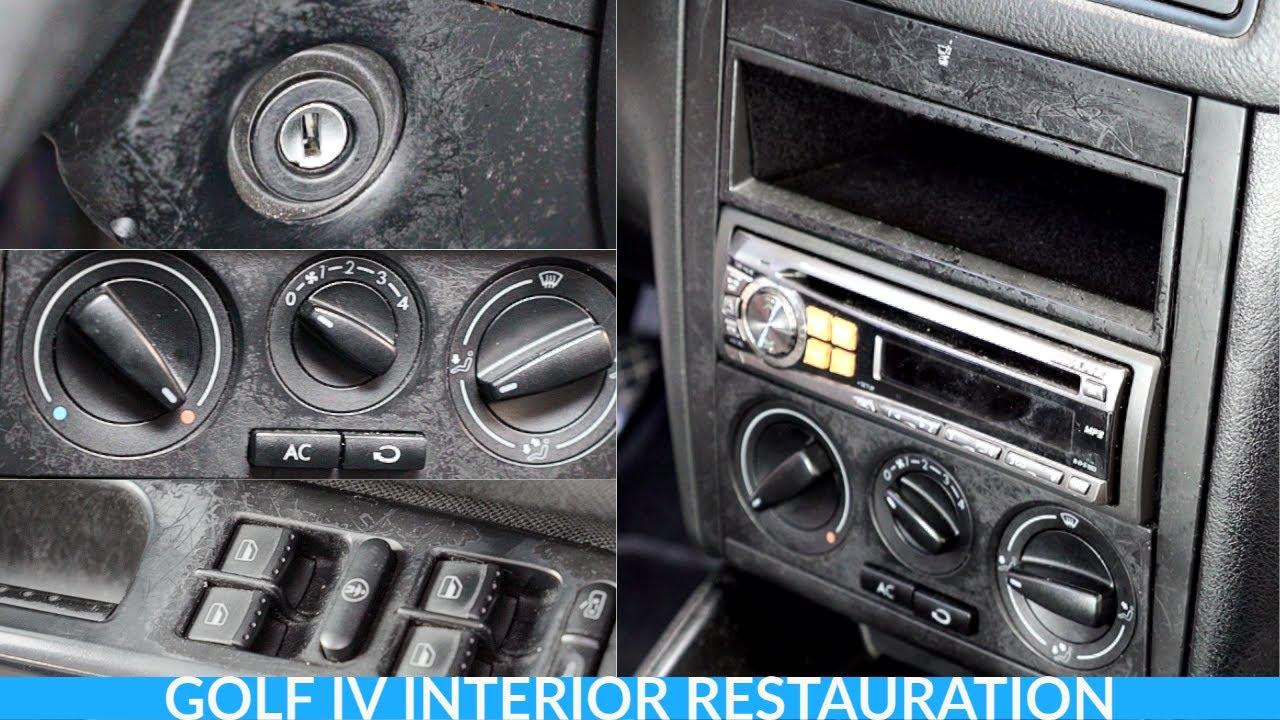 Replacing old damaged interior parts Volkswagen Golf MK4