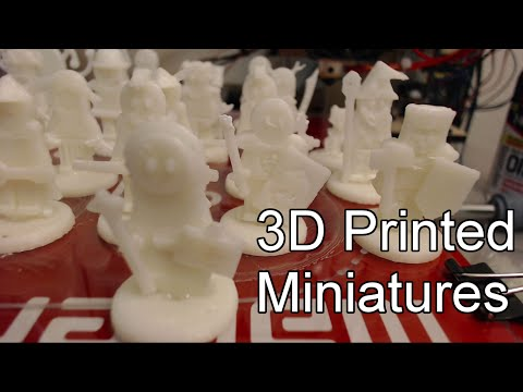 FlatMinis: 3D Printed Miniatures Assembled using ABS Slurry