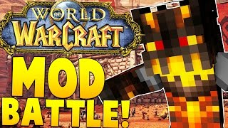 Minecraft Meets WORLD OF WARCRAFT MOD CHALLENGE (NEW WEAPONS) | Minecraft - Mod Battle