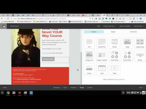 Creating An HTML Email Newsletter Using MailChimp