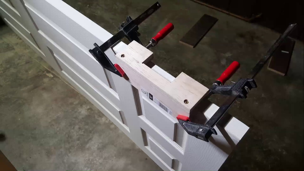 DIY. Custom size Hinge Template Jig - YouTube