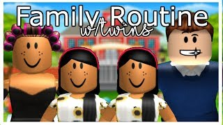 Familie SCHOOL Morgenroutine 2019 !! | Roblox Bloxburg | Sunset Safari
