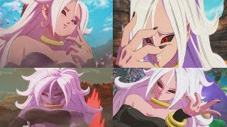 DRAGON BALL FIGHTERZ All Android 21 Transformations (Majin, Cell Absorbed, Normal)