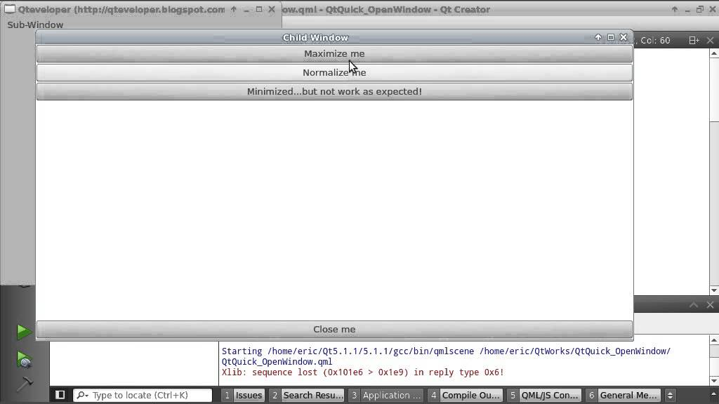 QtQuick example: resizing Window