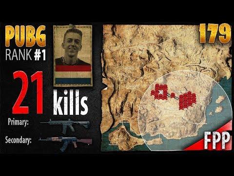 PUBG Rank 1 - ibiza 21 kills [EU] SOLO FPP - PLAYERUNKNOWN'S BATTLEGROUNDS #179